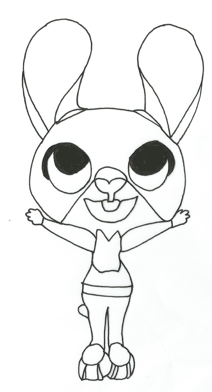 Free Printable Zootopia Coloring Pages Judy Hopps Free Printable
