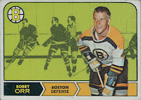 bobby orr boston bruins 1968-69 opc hockey card