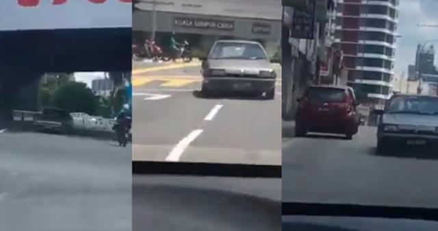 'Ini Baru Toretto Malaysia' - Aksi Bahaya Pemandu Bawa Kereta Secara Mengundur Cetus Fobia Netizen