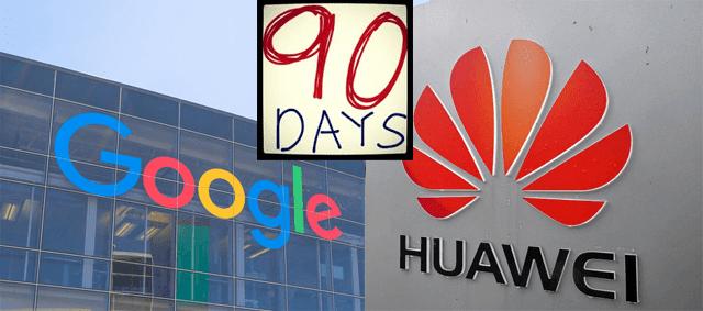 عاجل : جوجل تلغي الحظر المفروض على هواوي وتمنحها 3 شهور لتحديث هواتفها