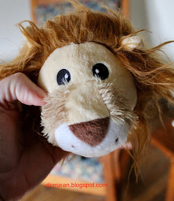 Lion's head dog toy