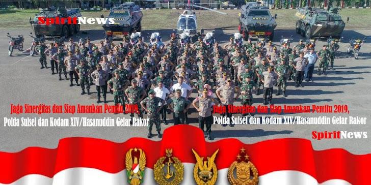 Polda Sulsel dan Kodam XIV/Hasanuddin Gelar Rakor, Siap Bersama Amankan Pemilu 2019