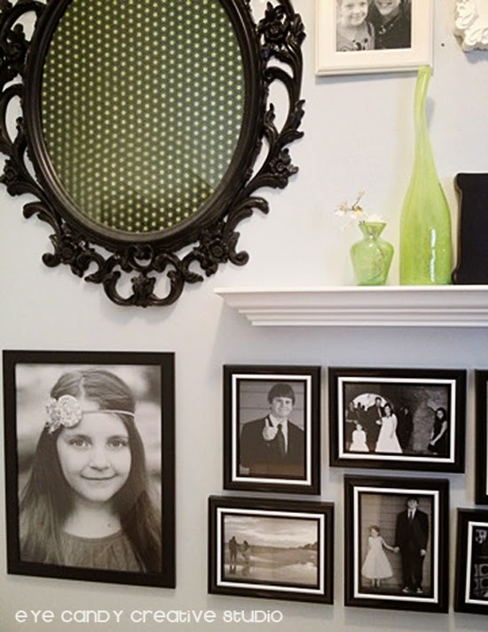 IKEA frame, black and white frames, photo gallery, white shelf, photos in black and white