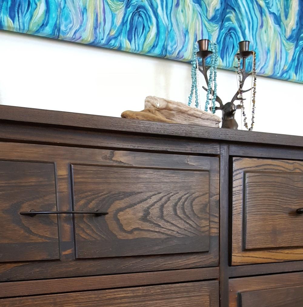 refinshed oak dresser