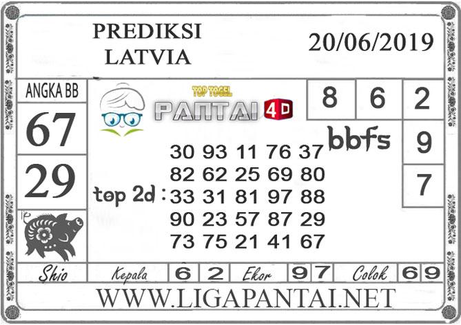 """PREDIKSI TOGEL """"LATVIA"""" PANTAI4D 20 JUNI 2019"""