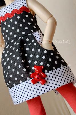 платье для куклы с карманами