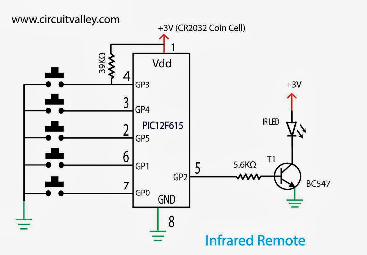 infrared remote control transmitter circuit