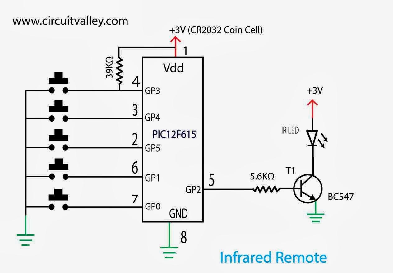 infrared remote control transmitter circuit