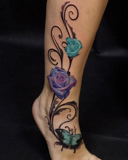 Enquanto as rosas são associados com o amor e a paixão, as borboletas são comumente ligados ao renascimento e ressurreição.