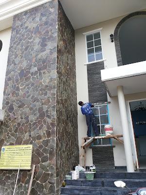 Cara Pemasangan Batu Alam