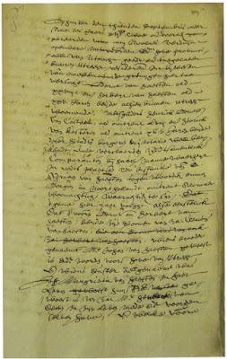 Kopie van de originele akte (detail)