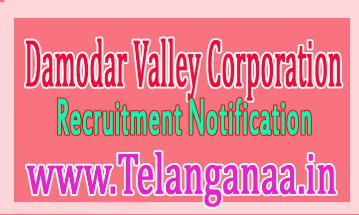 Damodar Valley Corporation (DVC) Recruitment Notification 2016