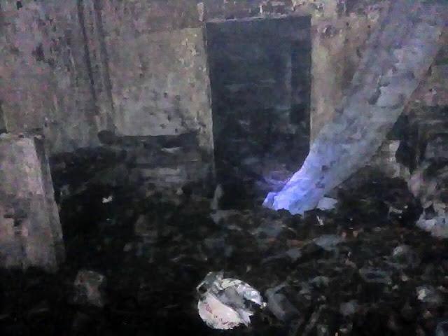 Salah satu sudut rumah yang ludes terbakar