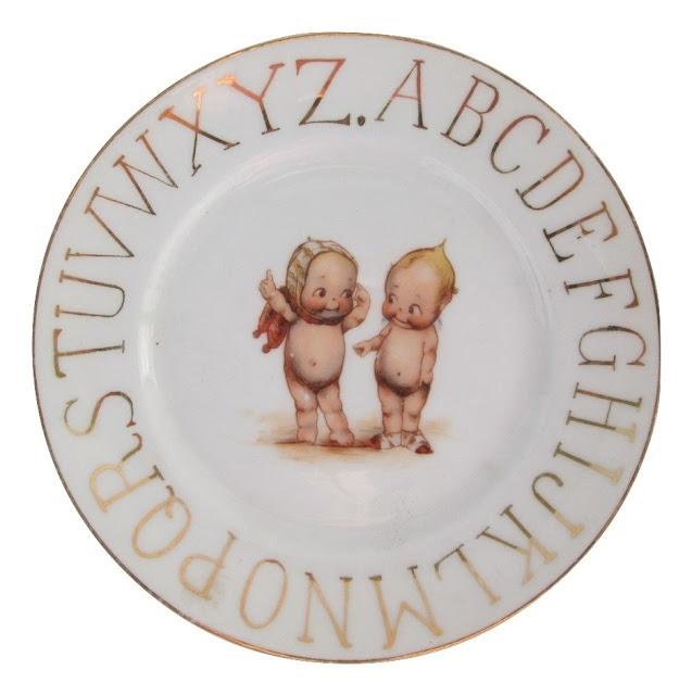 German ABC Child's Kewpie Plate
