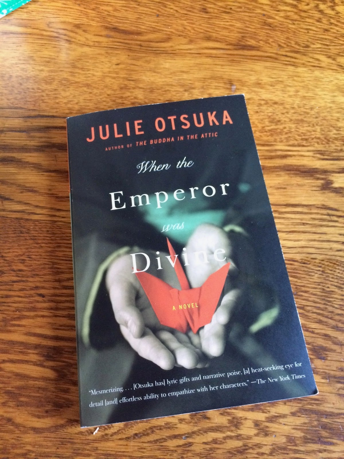 an analysis of when the emperor was divine by julie otsuka Report abuse transcript of julie otsuka when the emperor was divine on december 7th 1941, the japanese attacked pearl harbor us citizens feared another attack and war hysteria seized the country state representatives put pressure on president roosevelt to take action against those of japanese.