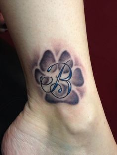 Paw Print Leg Tattoos