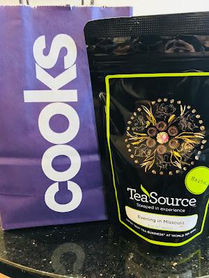 Photo of shopping bag and bag of tea