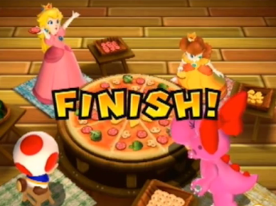 Pizza Me, Mario Party 9 Princess Peach Toadstool Daisy Birdo Toad stool minigame