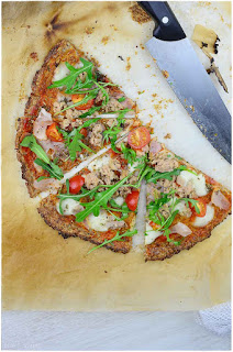 Pizza de coliflor light- base de pizza sin harina de trigo- pizza vegana- pizza vegetariana
