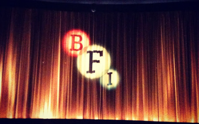 Cinema curtain at the BFI London Film Festival