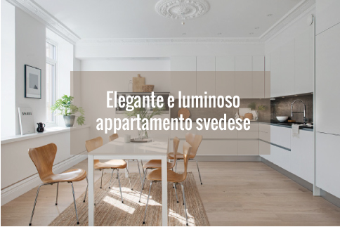 Elegante e luminoso appartamento svedese blog di for Arredamento luminoso