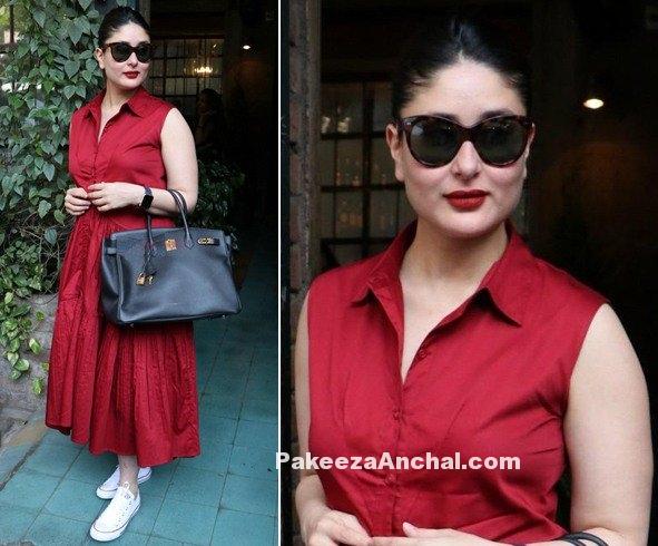 Kareena Kappor in Collared Midi Dress by Ankita Choksey