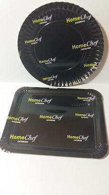 plato y bandeja cartón personalizado