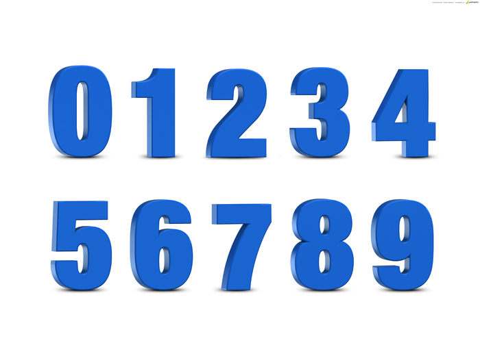 free download 1300x1300 px blue-3d-numbers-set