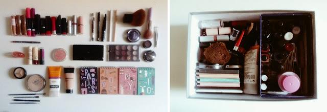 méthode pour ranger le maquillage