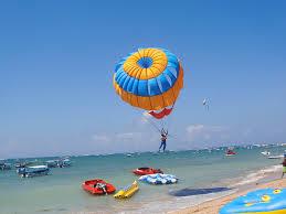 Parasailing water sport Bali