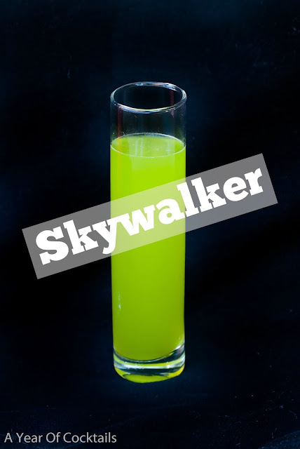 Luke Skywalker cocktail for any and all Star Wars fans, choose the Light Side.