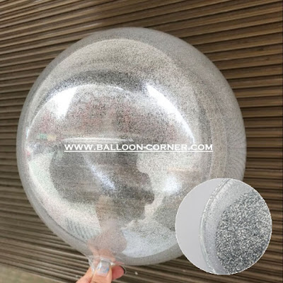 Glitter Balon (Accessories Isi Balon Transparan & Balon PVC Transparan / Balon Bubble)