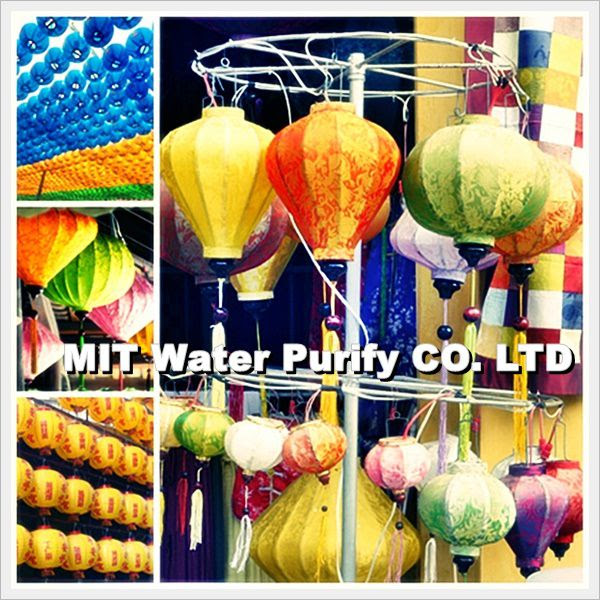 Chinese people will take a lantern when he walking around the night lantern market on The Chinese Lantern Festival Day by MIT Water Purify Professional Team Company