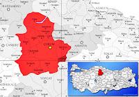Çorum Ortaköy ilçesinin nerede olduğunu gösteren harita