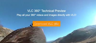 مشغل الفيديو VLC يدعم المقاطع البانورامية 360 درجة
