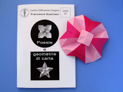 Origami, Booklet QQM 60 and Fiore geometrico bicolore - Bicolor Geometric Flower  by Francesco Guarnieri