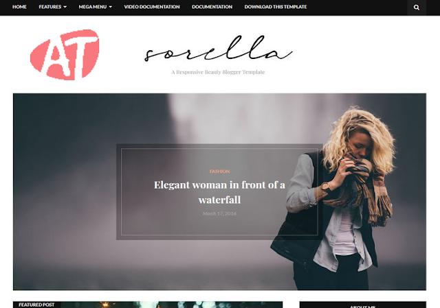 Sorella Beauty Blogger Template