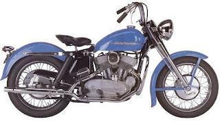 harley davidson k model light blue 1952