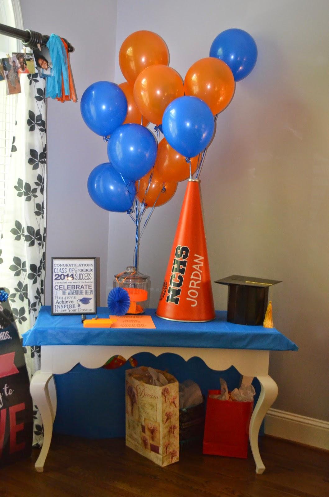Cakegirl S Kitchen Blue And Orange Graduation Party