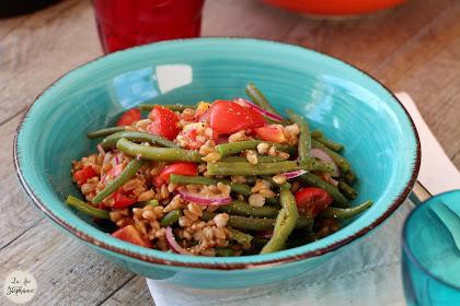 Salade d'épeautre et de haricots verts....en souvenir d'un beau week-end en Basilicata