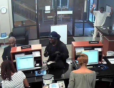 Bank robber accosted unarmed security officer during robbery