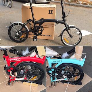 Sepeda Lipat Trifold 3 Speed looks like Brompton i