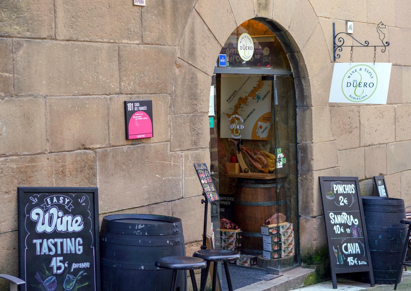 wine & tapas del duero, barcelona