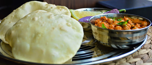 Cholle Bhature/ Bhatura / Indian fried bread.