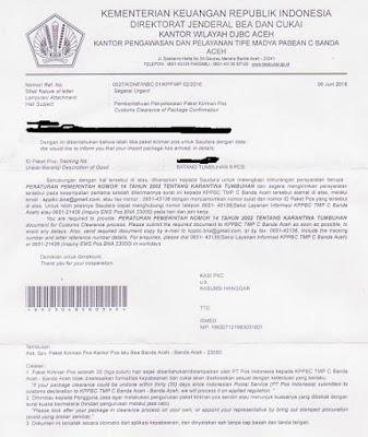 Penyelesaian Paket Kiriman Pos