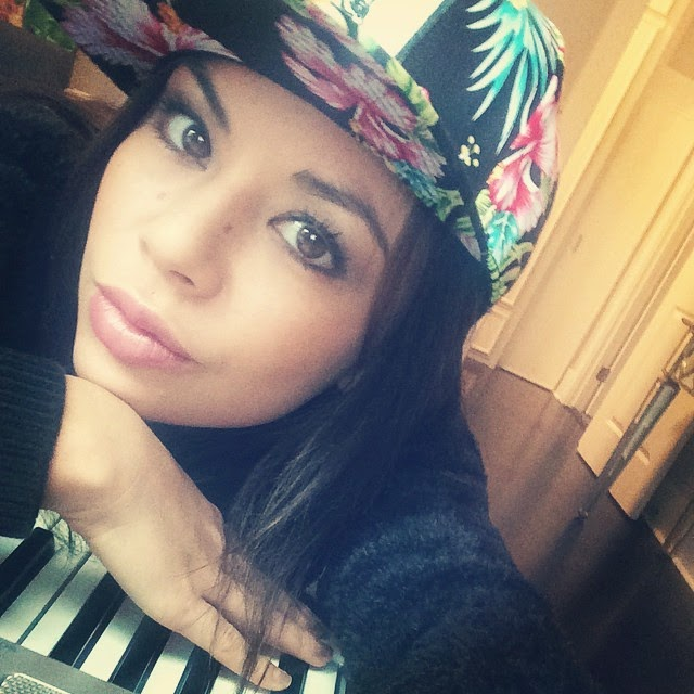 Janel Parrish Wearing Cool Hat