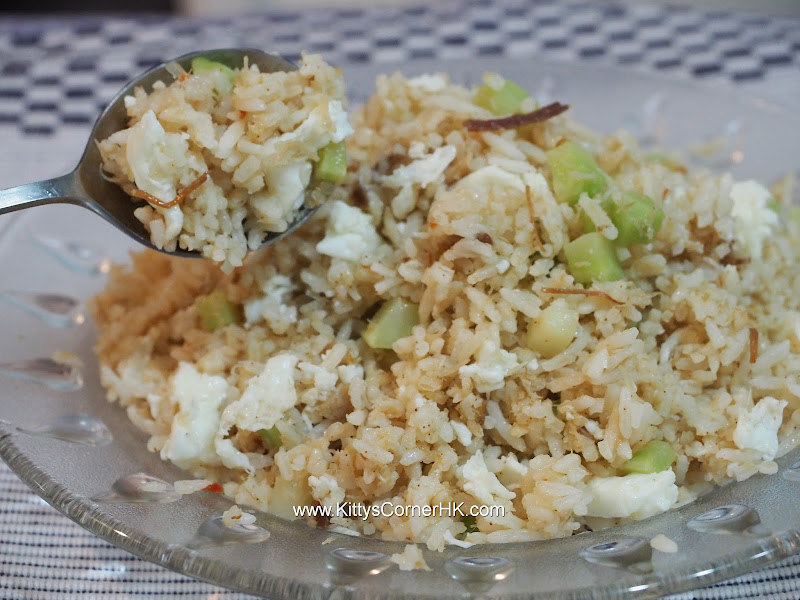 XO Sauce and Egg White Fried Rice recipe XO醬蛋白炒飯自家食譜