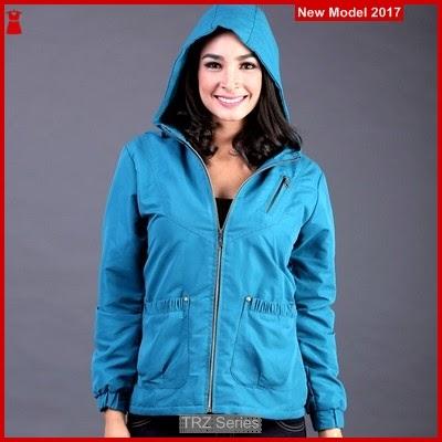 TRZ12 Jaket Wanita Hoodies Biru 007 Murah