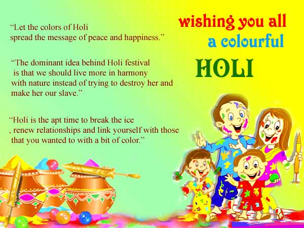 Happy Holi Wish Cards