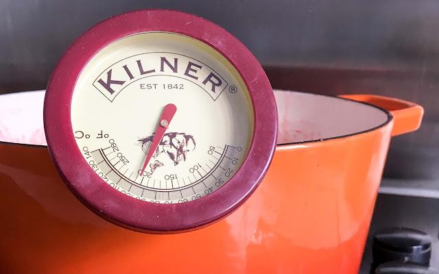 Kilner jam thermometer